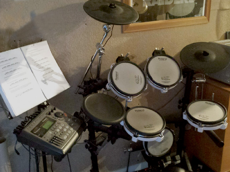 Roland Kit Ready for Quieter Drum Lessons