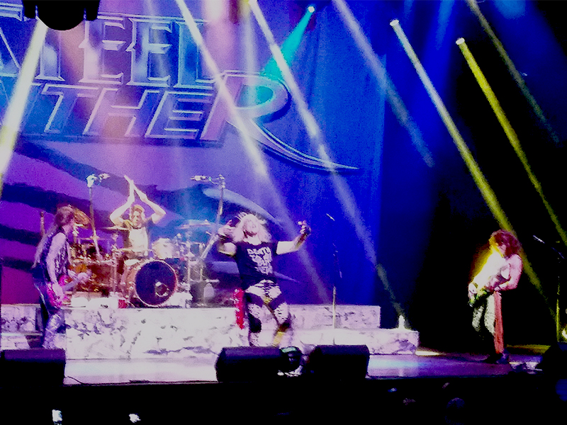 Yep, that's me on drums with Steel Panther in Las Vegas