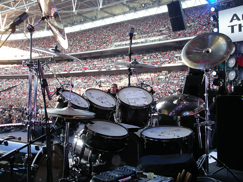 Wembley Stadium from the Drum Seat